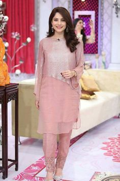 Neelum is such a sweetheart and gorgeous ofcourse Pakistani Party Wear, Pakistani Dress Design, Pakistani Outfits, Indian Outfits, Stylish Dresses, Simple Dresses, Beautiful Dresses, Casual Dresses, Fashion Dresses