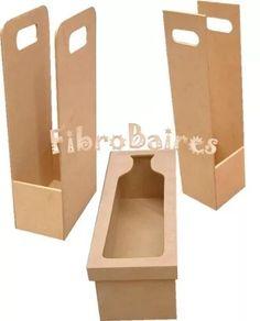 cajas fibrofacil para botella de vino n°3 - tapa con vidrio