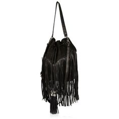 River Island Black leather and suede fringed handbag ($70) ❤ liked on Polyvore featuring bags, handbags, shoulder bags, bags / purses, black, women, black leather handbags, shoulder strap bag, black leather shoulder handbags and leather shoulder handbags