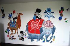 Een prachtige muurschildering van Jip en Janneke!. Foto geplaatst door LABEL1812 op Welke.nl
