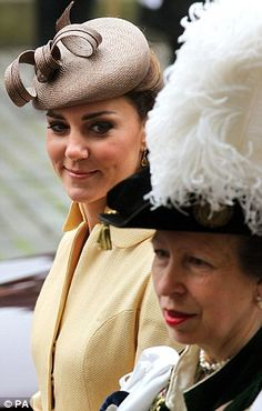 The Duchess of Cambridge and the Princess Royal at Order of the Thistle. July 5, 2012.
