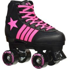 Shop for Epic Star Vela Black and Pink Quad Indoor/ Outdoor High-Top Quad Roller Skates. Get free delivery On EVERYTHING* Overstock - Your Online Sports & Fitness Shop! Get in rewards with Club O! Speed Roller Skates, Roller Skate Wheels, Roller Derby Skates, Kids Skates, Shoe Manufacturers, Roller Skating, Top Shoes, Girls Shoes, Hiking Boots