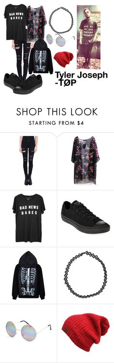 """Tyler Joseph - Twenty One Pilots"" by grunge-flower on Polyvore featuring Frame Denim, Converse, Boohoo and Full Tilt"