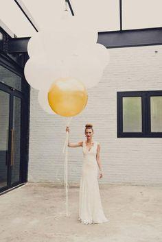 Wedding Trends: Gold Balloons - Weddbook