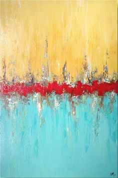 Original Large Abstract painting 24 X 36 by by JMJARTSTUDIO