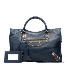 fdaf982f23b Balenciaga Sac à Main Metallic Edge Femme couleur Bleu - Découvrez la  dernière collection et achetez