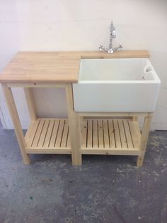 Belfast sink unit , drainer worktop , french tap & waste - complete set £545 | eBay