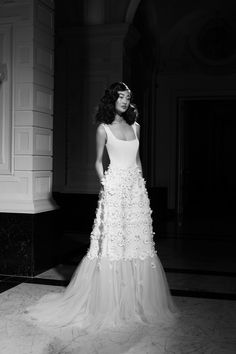 A Line Bridal Gowns, A Line Gown, Wedding Dress Trends, Wedding Dresses, Bridal Collection, One Shoulder Wedding Dress, Ball Gowns, Daisy, Bride