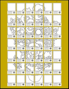 """42 """"tiles"""" for your students to design + everything you need for a successful process, product and presentation. Final artwork measures 45""""x 52""""."""