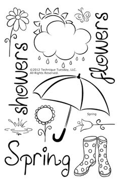 Technique Tuesday - Clear Acrylic Stamps - Spring at Scrapbook.com $14.99
