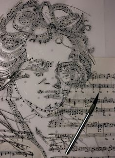 Ludwig Works of Art Made from Musical Notes Sound Of Music, Music Love, Music Is Life, My Music, Pochette Cd, Et Tattoo, Music Pictures, Illustration, Music Education