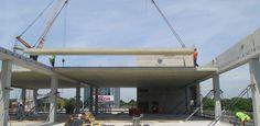 precast concrete frame for Longcross Construction