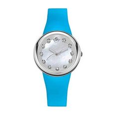 YVE by Philip Stein Energy Small Mother of Pearl & Turquoise Watch (17.710 RUB) ❤ liked on Polyvore featuring jewelry, watches, turquoise jewellery, white turquoise jewelry, holiday watches, holiday jewelry and blue turquoise jewelry