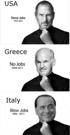 Funny pictures about No more jobs. Oh, and cool pics about No more jobs. Also, No more jobs photos. Steve Jobs, Funny Images, Funny Photos, Worlds Funniest Memes, Funny Adult Memes, The Meta Picture, Celebrity Names, Funny As Hell, Funny Shit
