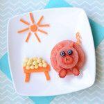 Food Art: A Sweet Piglet Watermelon Snack