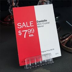 Magnetic Sign Grip Clip for Shelf-Top – Fixtures Close Up Red Design, Graphic Design, Price Tag Design, Signage Design, Store Displays, Hand Lettering, Magnets, Presentation, Banner