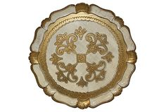 Vintage Italian Florentine Tray from Italy