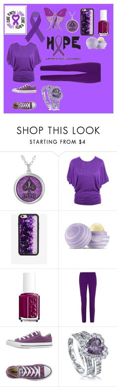 """""""Epilepsy Awareness"""" by kailyn-corey ❤ liked on Polyvore featuring Wildflower, Eos, Essie, Gucci, Converse and BERRICLE"""