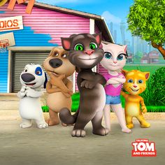 NEW Talking Tom adn Friends episodes!! Are you as excited as I am??? xo, Talking Angela #TalkingAngela #MyTalkingAngela #LittleKitties #TalkingFriends #new #Episodes