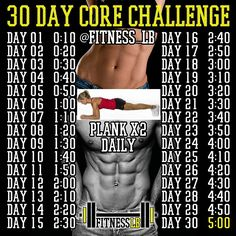 .@fitness_lb | Think you have a strong core? Well you will after this #30daychallenge Plank ... | Webstagram - the best Instagram viewer