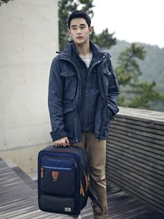 """Kim Soo Hyun Looks Handsome in """"Beanpole"""" Outdoor Clothing Photoshoot Outdoor Outfit, Outdoor Gear, Sexy Asian Men, My Love From The Star, Yoseob, Outdoor Fashion, Outdoor Clothing, How To Look Handsome, Kdrama Actors"""