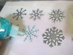 Elsa's snow queen Dress - making the snowflakes: very detailed tutorial