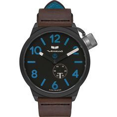 Vestal Canteen Italia Watch   Dark Brown/Black/Blue/Italian Leather