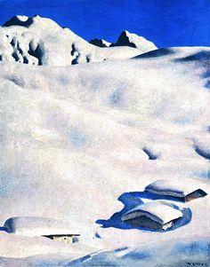 Almen im Schnee. Alfons Walde.