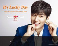 Lee Minho, 7 Luck Casino April 2017 calendar.