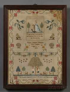 Maria Gulielma Atkinson/Her Sampler August 6 1800                                                               Would love to be able to do this sampler!