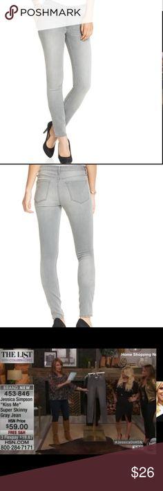 "J.Simpson Gray Kiss Me Skinny Jeans Plus 18 New Jessica Simpson Gray ""Kiss Me"" Skinny Jeans Plus Size 18 Like New. Worn Once! Very Flattering!! Jessica Simpson Jeans Skinny"