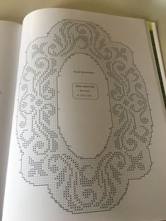 6/1 Filet Crochet Charts, Crochet Doily Patterns, Thread Crochet, Crochet Doilies, Free Crochet, Stitch Patterns, Knitting Patterns, Crochet Collar, Crochet Tablecloth