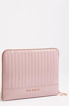 iPad case, loving the rose gold hardware