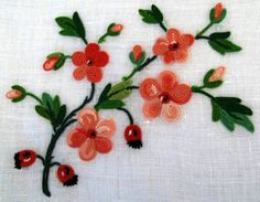 Point de Beauvais Tambour Embroidery, Embroidery Stitches, Hand Embroidery, Beauvais, Arts And Crafts, Diy Crafts, Brazilian Embroidery, Thread Work, Embroidered Flowers