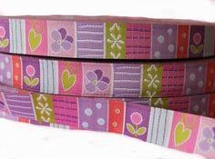 Webband - Webband Bright Stripes Lillestoff - ein Designerstück von Jackys-Stoffe bei DaWanda