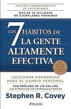 Los 7 Habitos de la Gente Altamente Efectiva Stephen R. Covey Spanish Libro Lide