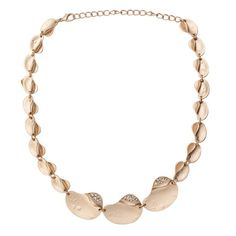 Gold Matte Tucked CZ Necklace  http://www.inspiredsilver.com/ #InspiredSilver #Necklace #Goldjewelry  #Jewelry