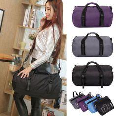 a3d4c6c8e9c Womens Nylon Travel Duffle Bag Gym Tote Satchel Messenger Shoulder Sports  Bags