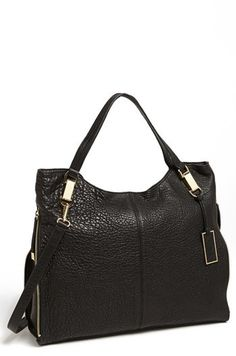$278, Black Leather Tote Bag: Vince Camuto Riley Leather Tote. Sold by Nordstrom. Click for more info: https://lookastic.com/women/shop_items/132247/redirect