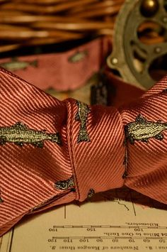 Trout Bow Tie (Rainbow Trout Pink)