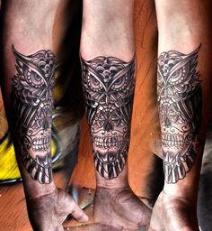 #tattoo #tattoos #lafayette #la #owl #forearm #gregcouvillier #tattooshop #tattooartist http://www.tattooslafayettela.com/ https://www.facebook.com/studiotattoos