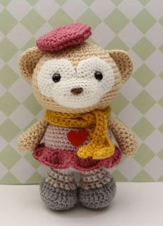 Amigurumi Crochet Pattern Satori the Monkey por littlemuggles
