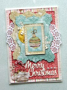 BoBunny: Vintage Christmas Cards featuring Carousel Christmas - with Emmy