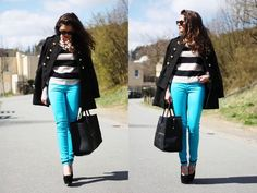 Look: turquoise -      pants Motel Rocks,     bag vj-style,     wedges Nelly