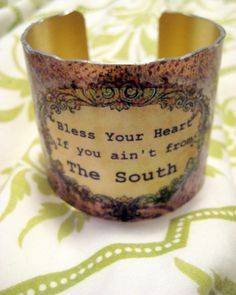 Bless Your Heart  Southern Girl Cuff Bracelet  Cowgirl by kiki6462, $22.00