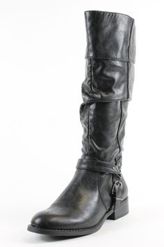 White Mountain Lefty Black Knee-High Boots