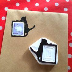 Calligraphy Envelope, Envelope Art, Handmade Stamps, Handmade Books, Stamp Carving, Copics, Linocut Prints, Mail Art, Craft Work