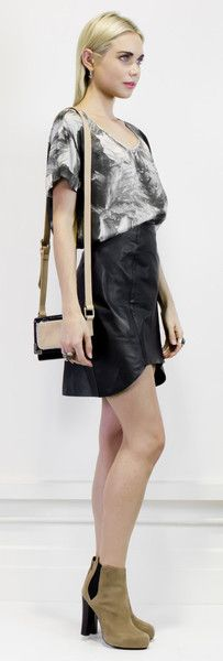 Hot leather angled skirt #halcyonstate