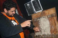 """modelado en vivo en el Club Tucuman de Quilmes en el recital """"El Under Ponga Huevos"""