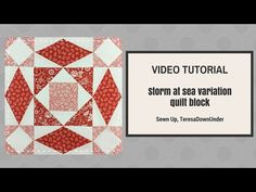 Video tutorial: quick and easy Storm at sea variation quilt block - YouTube